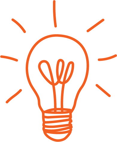 This lightbulb represents ideas